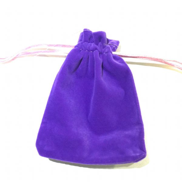 10 pieces x Velvet pouch - 12cm x 9cm - Purple